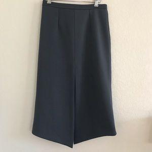 ASOS asymmetrical front slit scuba skirt gray